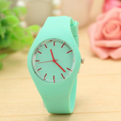 Relógios Femininos Da Moda, Em Silicone.