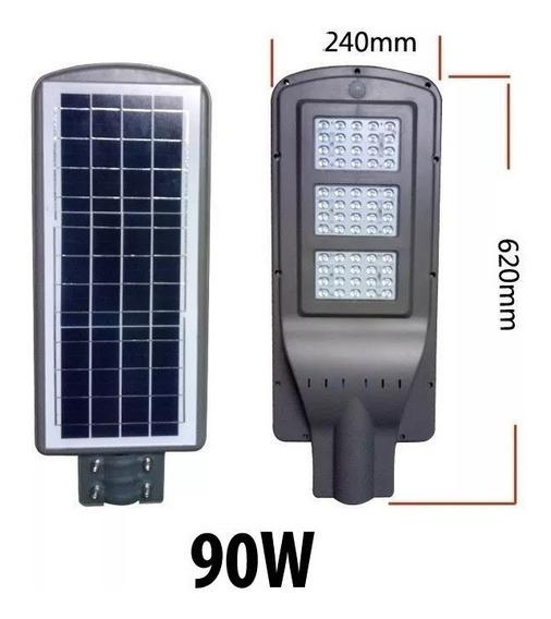 Refletor Luminária 90w Pública Poste Solar Led Com Sensor