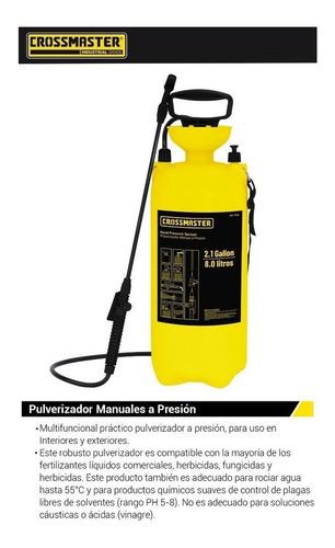 Imagen 1 de 3 de Pulverizador Atomizador Fumigador Manual Presion Mochila 8lt