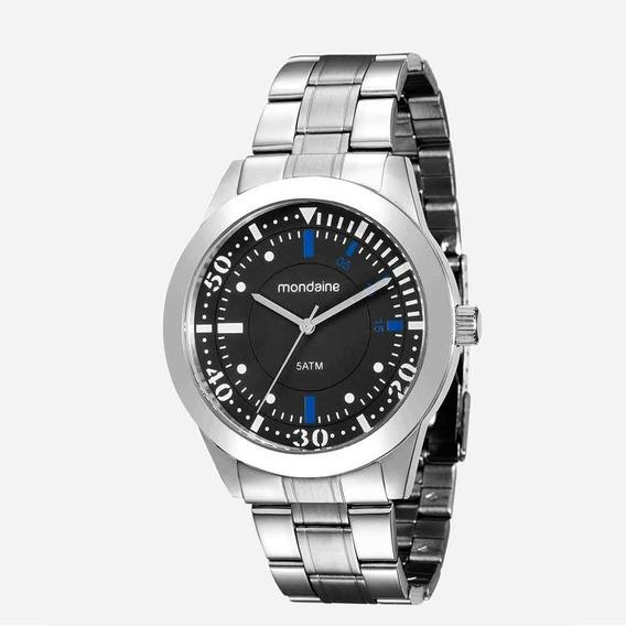 Relógio Masculino Mondaine Com Carteira Prata 78735g0mvna1k