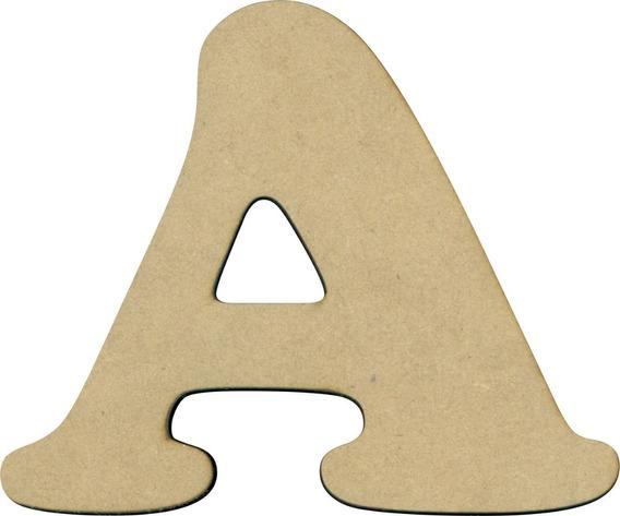 Figura Letra Fibrofacil Mdf Laser 10 Cm X 3 Mm Pack 10 Un
