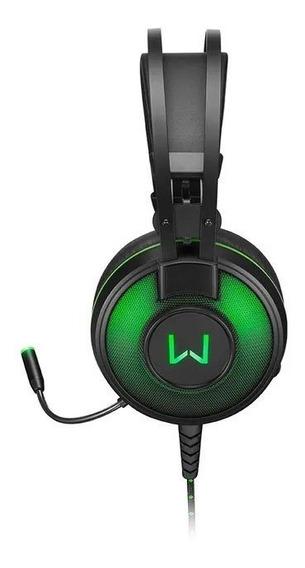 Fone De Ouvido Headset Warrior Raiko Com Microfone E Leds