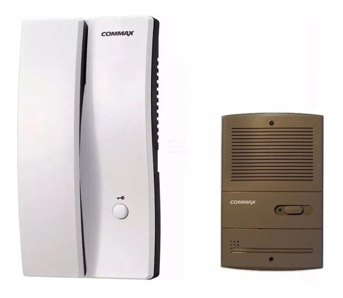 Imagen 1 de 8 de Kit Portero Electrico Commax Dp 2s Frente P/embutir