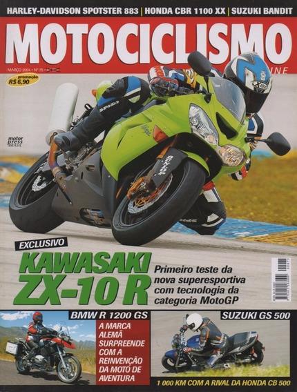 Motociclismo N°75 Kawasaki Zx-10r Suzuki Gs 500e Sundown Web