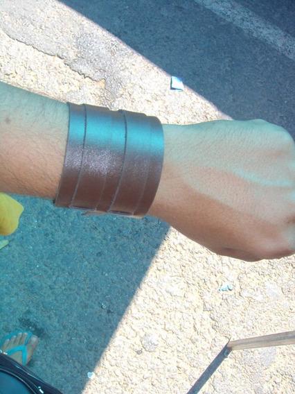 Bracelete Couro Sintetico Atacado 100 Unidades