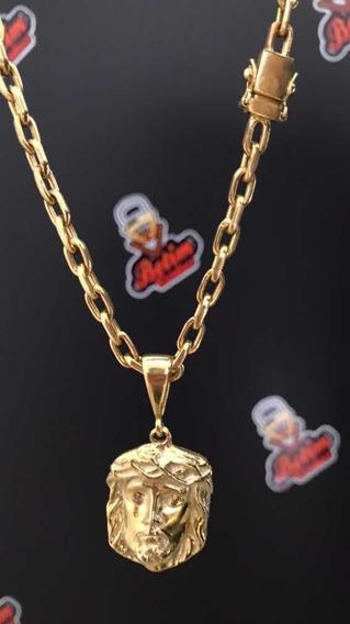 Cordão Feito A Ouro .18k - Modelo Cadeado