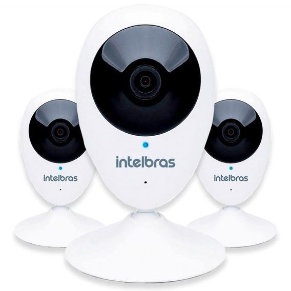Kit 3 Câmeras Intelbras Mibo Wifi Hd 720p Ic3 Micro-sd