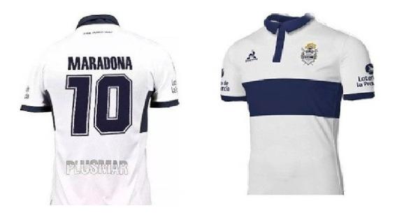 Camiseta De Gimnasia De La Plata 2018 + 10 Maradona
