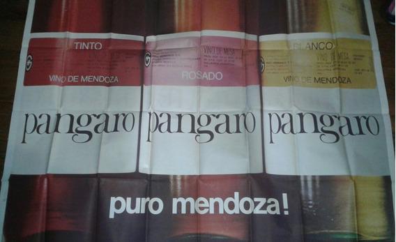 Afiche Calle Publicidad Vino Pángaro Colección