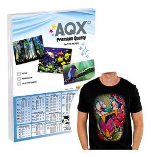 10 Hojas Transfer A4 Premium Para Ropa Tela Oscura Aqx