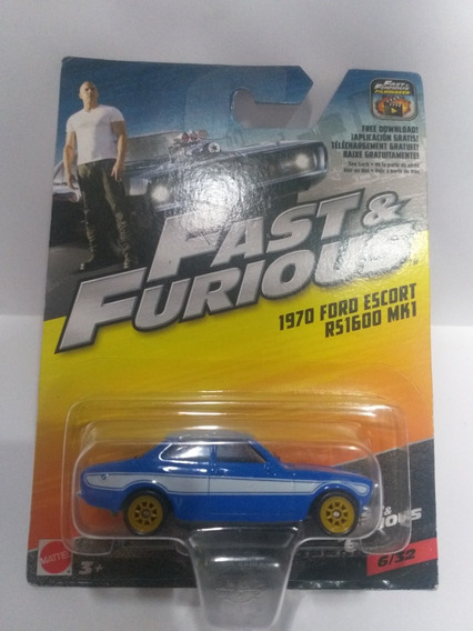 Fast & Furious Ford Escort Rs1600 Mk1 6/32 Mattel Escal 1/55