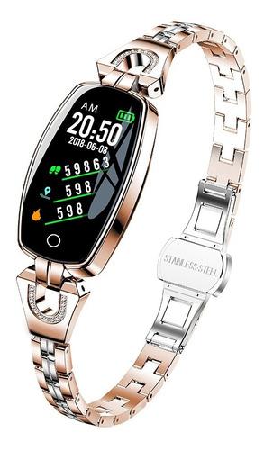Imagen 1 de 8 de H8 Pulsera Inteligente Reloj Para Mujer Ip67 Monitor De