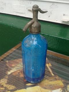 Antiguo Sifón Azul No Rosa,colección Bautis E Iglesias El 46