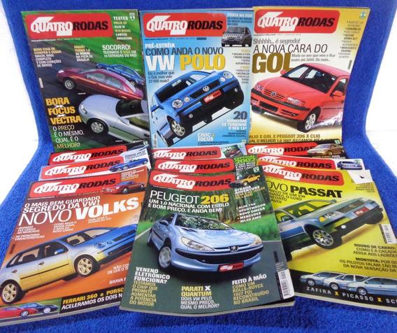 Lote Revista Quatro Rodas(12) N°496,497,486,487,489...