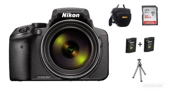 Câmera Nikon P900+1 Bateria+32gb+bolsa+tripé