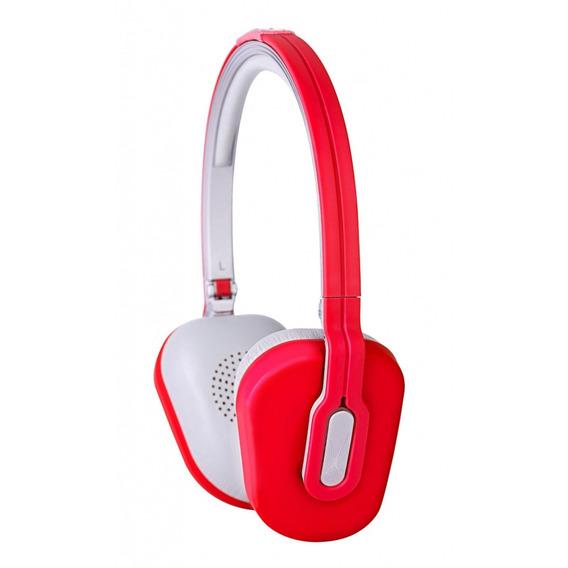 Fone Ouvido Dobrável C/ Microfone E Controle Volume Vermelha