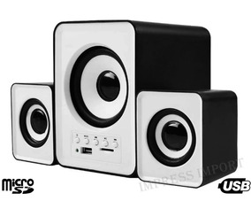 Sistema Som Home Theater Subwoofer 11w Pc Tv Bluetooth Fm Sd