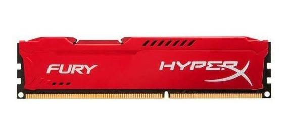 Memoria Kingston Hyperx Fury 4gb (1x4) Ddr3 1600mhz Vermelha