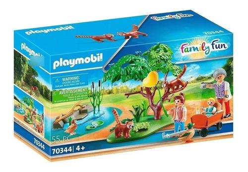 Imagen 1 de 8 de Playmobil Recinto Exterior De Pandas Rojos 70344 Family Fun