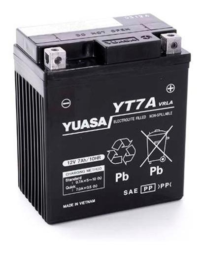 Batería Moto Yuasa Yt7a Honda Tornado Xr 250