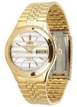 Relógio Automático Orient Em03-ao Dourado Luxuoso Original