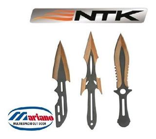 Cuchillos De Lanzar Ntk Kyoto Balanceados Set X3 Acero 420