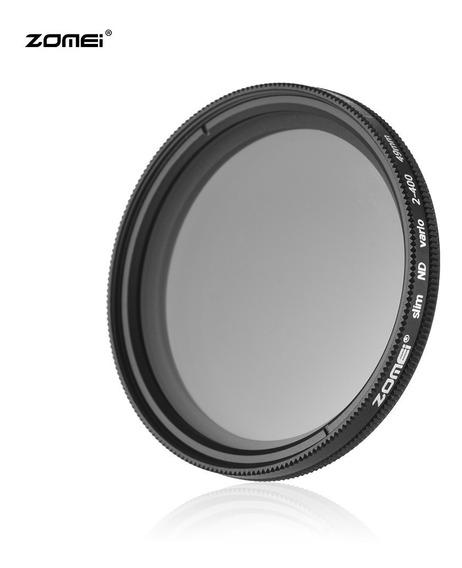 Zomei 49mm Ultra Slim Fader Nd2-400 Nd Neutro Densidade
