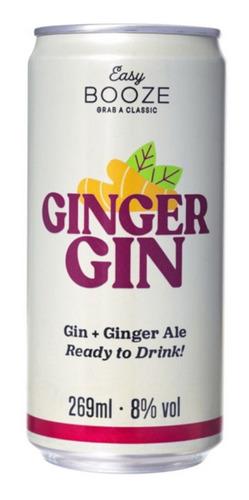 Imagem 1 de 1 de Gin Com Gengibre Easy Booze Gim Ale Ready To Drink 269ml