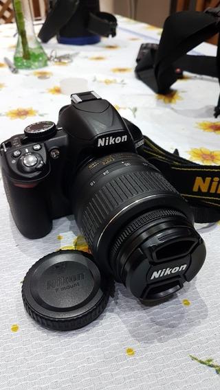 Camara Reflex Nikon D3100 Y Bolso