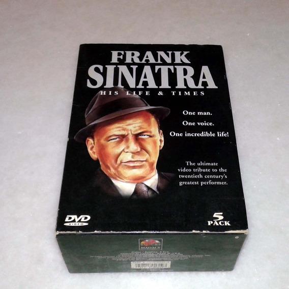 5 Dvds Frank Sinatra His Life & Times - Importado S/legendas