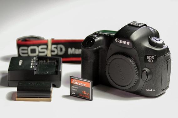 Canon 5d Markiii Usada + 2x Cartões + Bateria Extra+ Softbag