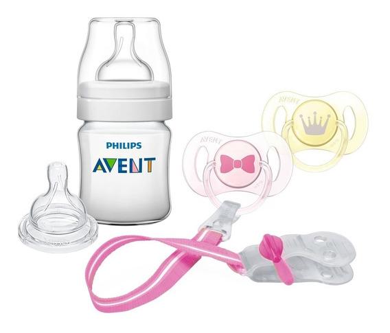 Combo Avent Natural Recien Nacidos Mamadera Chupete Lh