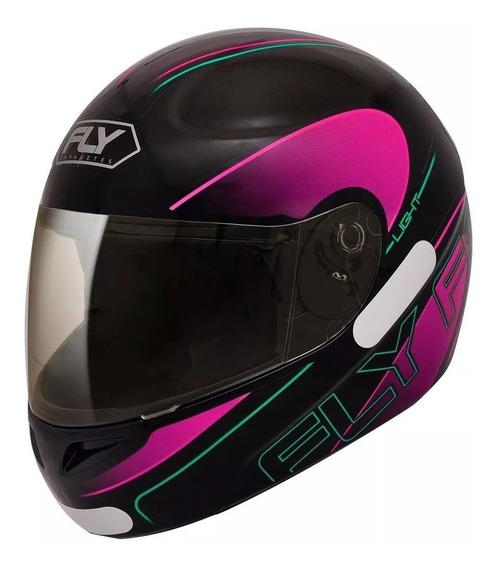 Capacete Fechado Moto Fly F8 Masculino/feminino.garantia,segurança,corforto,barato,cores,tamanhos.aprovado Pelo Inmetro!