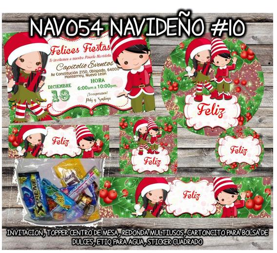 Kit Imprimible Nav054 Navideño #10 Niños Santa Claus