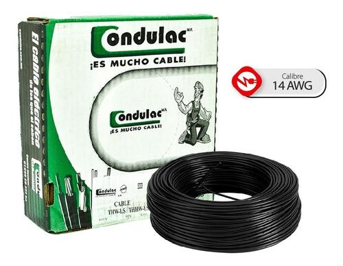 Caja 100 Mts Cable Blanco Thw Cal 14 Awg  100%cobre Condulac
