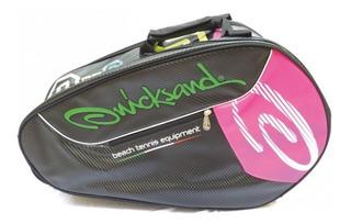 Raqueteira Quicksand Beach Tennis - Preto/pink