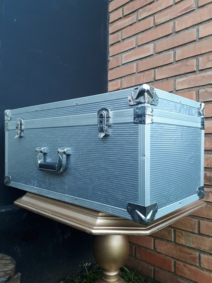 Bau Antigo - Em Alumínio - Bagagem De Avião - Original Raro