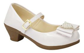 Sapatilha Infantil Salto Feminina Dourada Moda Barato 10