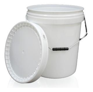 Cubeta Con Tapa Sellafacil Capacidad 19 Litros 5 Piezas