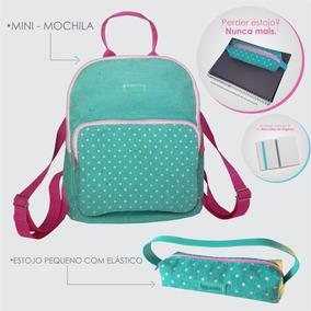 Mini (mochila) Poa Verde + Estojo Com Elástico Verde