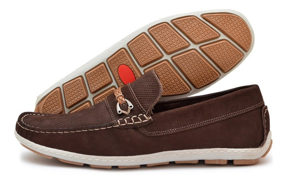 Mocassim Dockside Sapato Drive Conforte Masculino 100% Couro