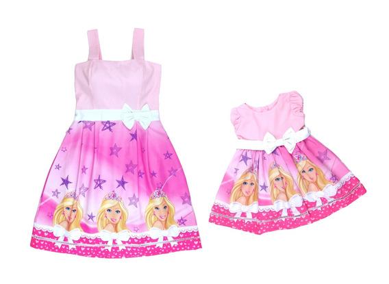 Kit Tal Mãe Tal Filha Barbie C/manguinha Juvenil