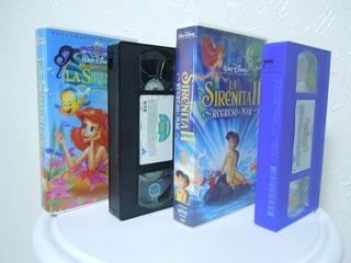 La Sirenita 1 Y 2 Pack Vhs , Walt Disney, Originales