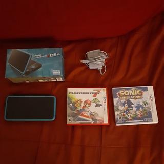 Consola Nintendo 2ds Xl, 4gb Con 2 Juegos