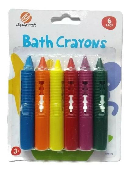 Crayones X 6 Para El Agua - Dibuja En El Baño Villa Urquiza