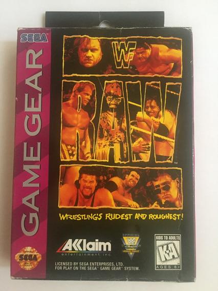 Wf Raw Game Gear Original Manual