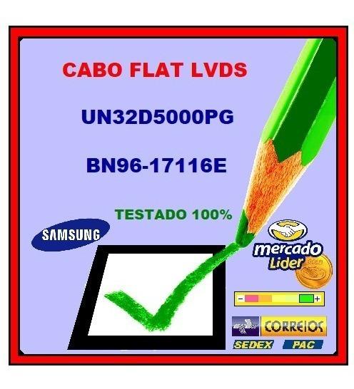 Cabo Flat Lvds Tv Samsung Un32d5000pg Bn96-17116e