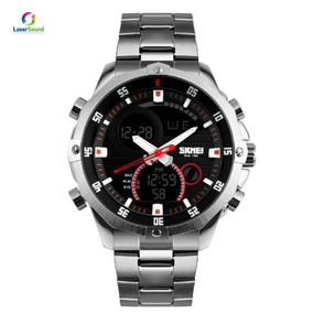 Relógio Masculino Skmei Anadigi 1146 Prata C/ Garantia E Nf