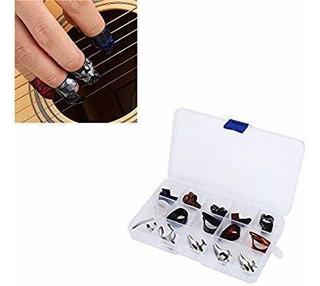 Kit De 15 Uñas Para Guitarra Xylonita Y Acero Inoxidable
