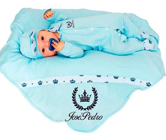 Saída De Maternidade Personalizável Azul Marinho Príncipe